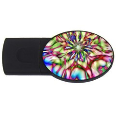 Magic Fractal Flower Multicolored USB Flash Drive Oval (1 GB)