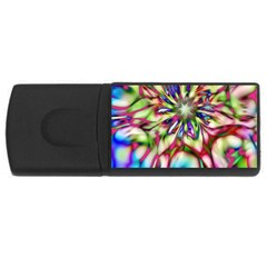 Magic Fractal Flower Multicolored USB Flash Drive Rectangular (2 GB)