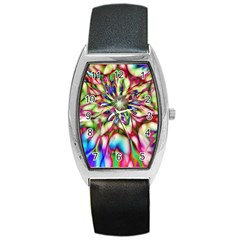 Magic Fractal Flower Multicolored Barrel Style Metal Watch