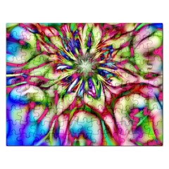 Magic Fractal Flower Multicolored Rectangular Jigsaw Puzzl