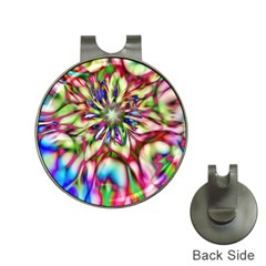 Magic Fractal Flower Multicolored Hat Clips with Golf Markers