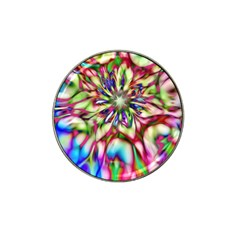 Magic Fractal Flower Multicolored Hat Clip Ball Marker (4 pack)