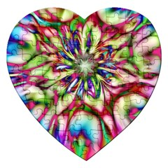 Magic Fractal Flower Multicolored Jigsaw Puzzle (Heart)