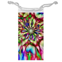 Magic Fractal Flower Multicolored Jewelry Bag