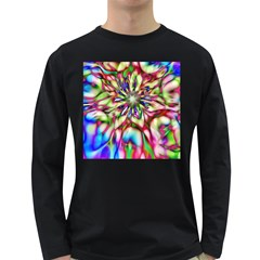 Magic Fractal Flower Multicolored Long Sleeve Dark T-Shirts
