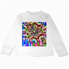 Magic Fractal Flower Multicolored Kids Long Sleeve T-Shirts