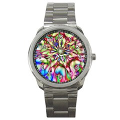 Magic Fractal Flower Multicolored Sport Metal Watch
