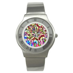 Magic Fractal Flower Multicolored Stainless Steel Watch