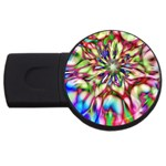 Magic Fractal Flower Multicolored USB Flash Drive Round (4 GB) Front