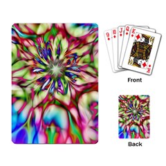 Magic Fractal Flower Multicolored Playing Card