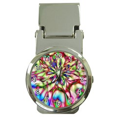 Magic Fractal Flower Multicolored Money Clip Watches