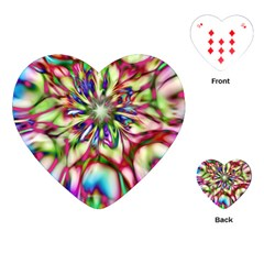 Magic Fractal Flower Multicolored Playing Cards (Heart)