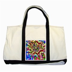 Magic Fractal Flower Multicolored Two Tone Tote Bag