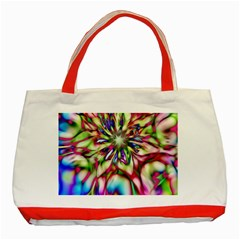 Magic Fractal Flower Multicolored Classic Tote Bag (Red)