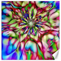 Magic Fractal Flower Multicolored Canvas 16  x 16