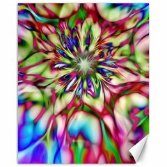 Magic Fractal Flower Multicolored Canvas 16  x 20
