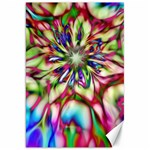 Magic Fractal Flower Multicolored Canvas 20  x 30   30 x20 Canvas - 1