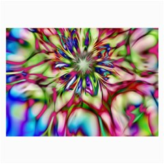 Magic Fractal Flower Multicolored Large Glasses Cloth