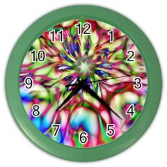 Magic Fractal Flower Multicolored Color Wall Clocks