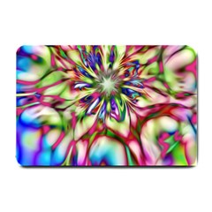 Magic Fractal Flower Multicolored Small Doormat