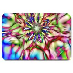 Magic Fractal Flower Multicolored Large Doormat