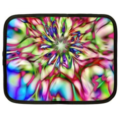 Magic Fractal Flower Multicolored Netbook Case (Large)