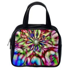 Magic Fractal Flower Multicolored Classic Handbags (One Side)