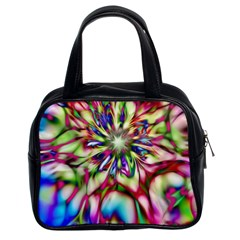 Magic Fractal Flower Multicolored Classic Handbags (2 Sides)