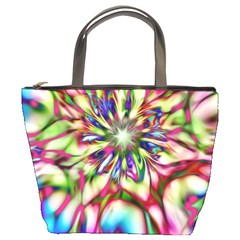 Magic Fractal Flower Multicolored Bucket Bags