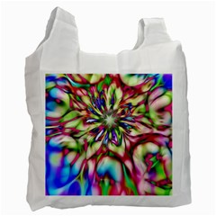 Magic Fractal Flower Multicolored Recycle Bag (Two Side)