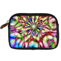 Magic Fractal Flower Multicolored Digital Camera Cases