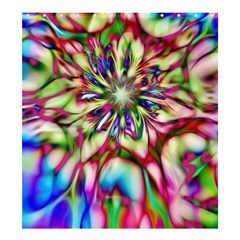 Magic Fractal Flower Multicolored Shower Curtain 66  x 72  (Large)