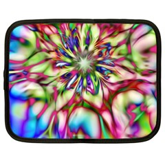 Magic Fractal Flower Multicolored Netbook Case (XXL)