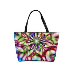 Magic Fractal Flower Multicolored Shoulder Handbags