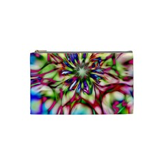 Magic Fractal Flower Multicolored Cosmetic Bag (Small)