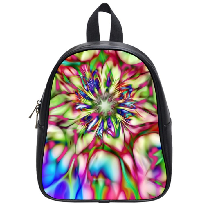 Magic Fractal Flower Multicolored School Bags (Small)