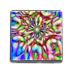 Magic Fractal Flower Multicolored Memory Card Reader (Square)