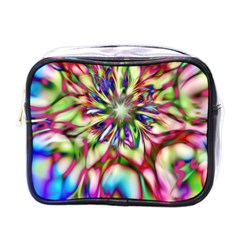 Magic Fractal Flower Multicolored Mini Toiletries Bags