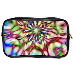 Magic Fractal Flower Multicolored Toiletries Bags