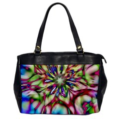 Magic Fractal Flower Multicolored Office Handbags