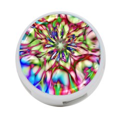 Magic Fractal Flower Multicolored 4-Port USB Hub (Two Sides)
