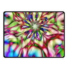 Magic Fractal Flower Multicolored Fleece Blanket (Small)