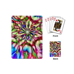 Magic Fractal Flower Multicolored Playing Cards (Mini)