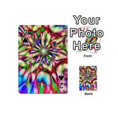 Magic Fractal Flower Multicolored Playing Cards 54 (Mini)