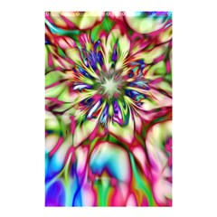 Magic Fractal Flower Multicolored Shower Curtain 48  x 72  (Small)
