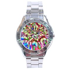 Magic Fractal Flower Multicolored Stainless Steel Analogue Watch