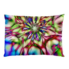 Magic Fractal Flower Multicolored Pillow Case (Two Sides)