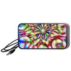 Magic Fractal Flower Multicolored Portable Speaker (Black)