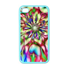 Magic Fractal Flower Multicolored Apple iPhone 4 Case (Color)
