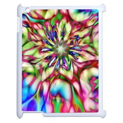 Magic Fractal Flower Multicolored Apple iPad 2 Case (White)